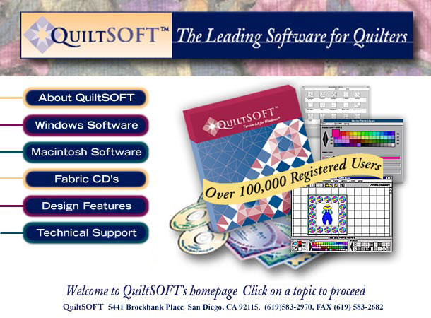 QuiltSOFT: Quilt Design Software and Quilt Fabrics